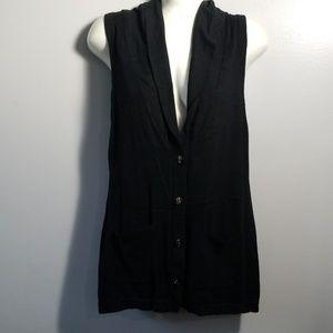 Ann Taylor Loft Black Vest w/Pockets